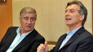 Oscar Aguad y Mauricio Macri.