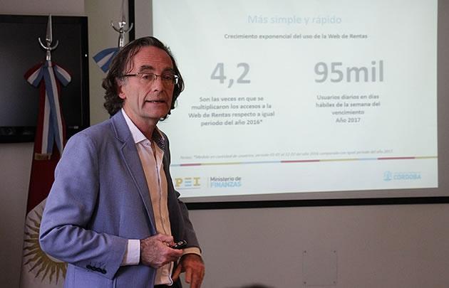 Osvaldo Giordano, actual Ministro de Finanzas y ex Secretario de Ingresoso Públicos de la provincia, hombre fuerte de la Fundación Mediterránea y figura clave en el sistema impositivo.