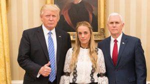 Lilian Adriana Tintori Parra, esposa del activista Leopoldo López, recibe el apoyo de Donald Trump y la cancillería norteamericana.