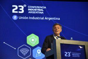 El ministro de Producción Francisco Cabrera en la Conferencia Industrial  Argentina en el Complejo Golden Center de Parque Norte (CABA)